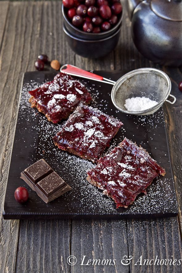 Cranberry Bars with Chocolate Shortbread Crust