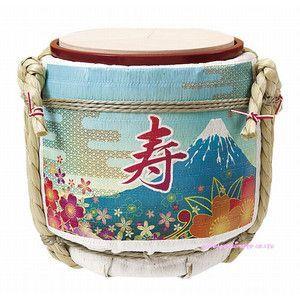 """鏡開き In Japan, there is a traditional event to drink japanese Sake called""""Kagami-Biraki""""on Jan.11(結婚式披露宴演出)ミニ鏡開き こも樽 富士山(新商品)"""