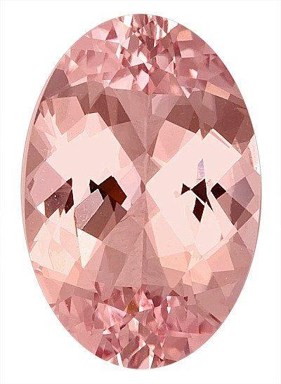 Very Fine Color & Cut Loose Morganite Natural Gem for SALE, Oval Cut, 8.31 carats