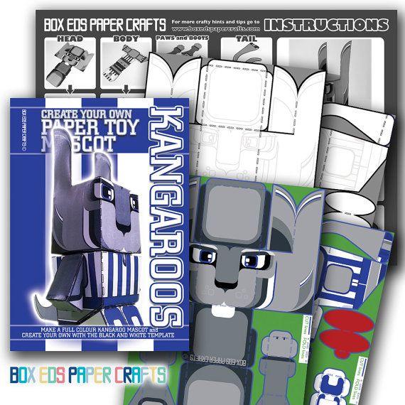 DIY craft kit. Make your own North Melbourne by BoxEdsPaperCrafts