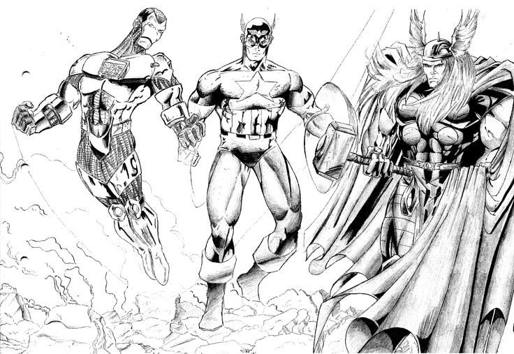 disegni da colorare avengers 2