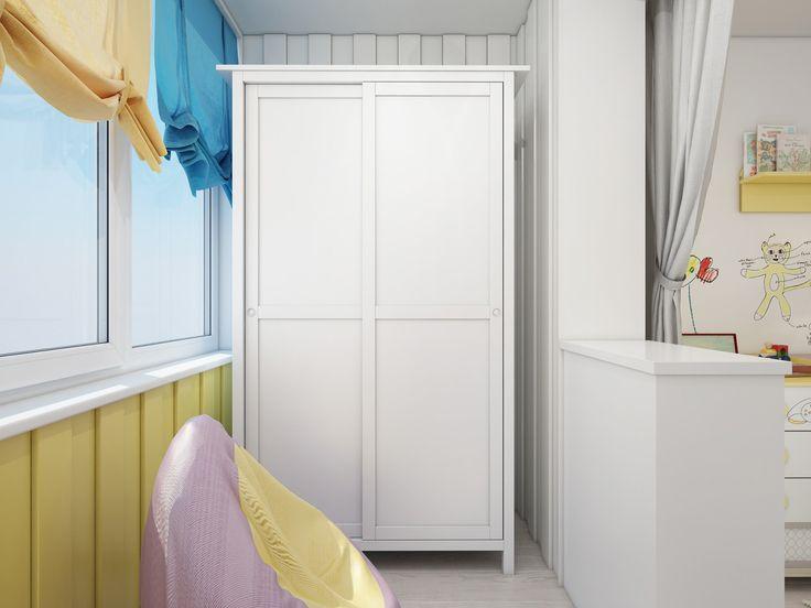 детская комната объединенная с лоджией
