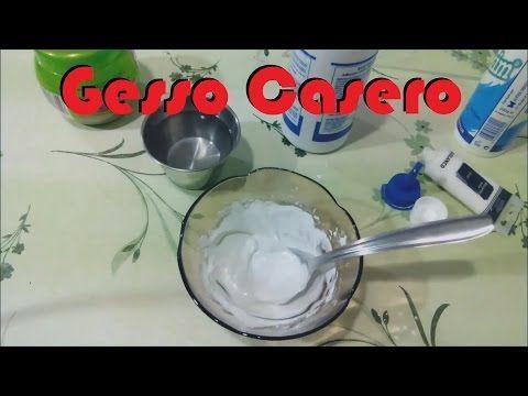 Gesso Casero [FACIL Y ECONOMICO] Scrapbook facil - YouTube