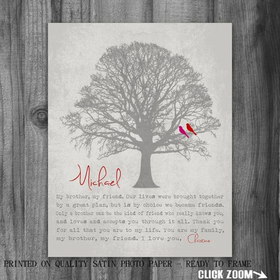 Personalized BROTHER GIFT Print Gift For By