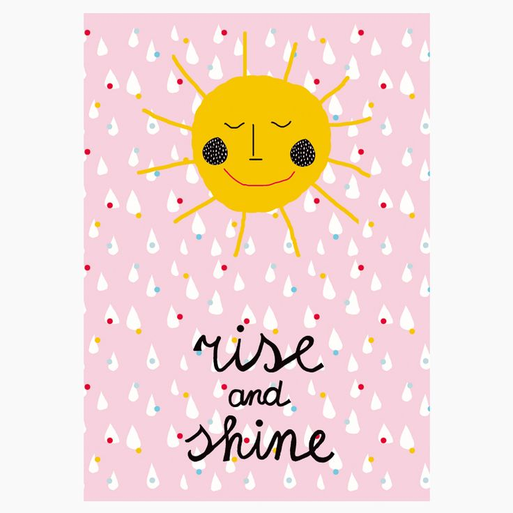 """""""Rise and Shine"""" poster - Size A3 (unframed) 