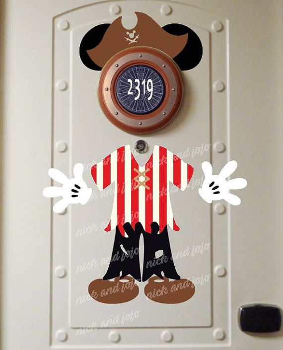 NEW Pirate MICKEY Disney Cruise Door Magnets Body by nickandjojo : disney door - Pezcame.Com