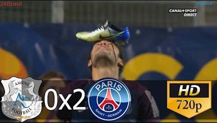 Amiens 0 x 2 PSG (HD) Melhores momentos e Gols - Copa da Liga Francesa 10-01-2018
