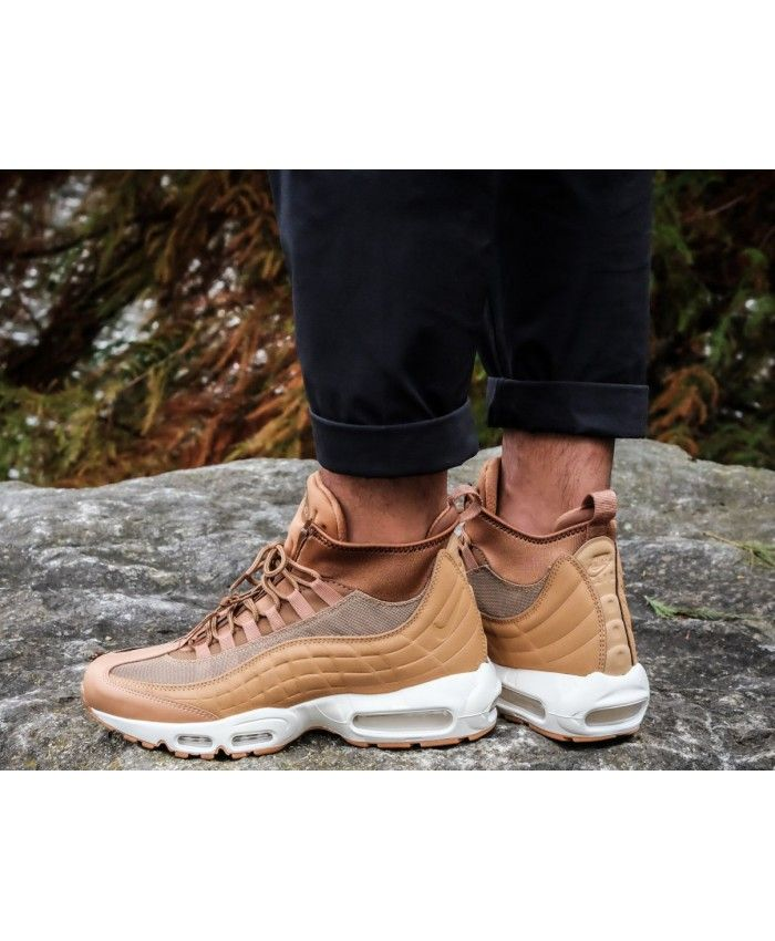 f9bd4adb5d Nike Air Max 95 Sneakerboot Flax Ale Brown Sail Trainer | NIKE AIR ...