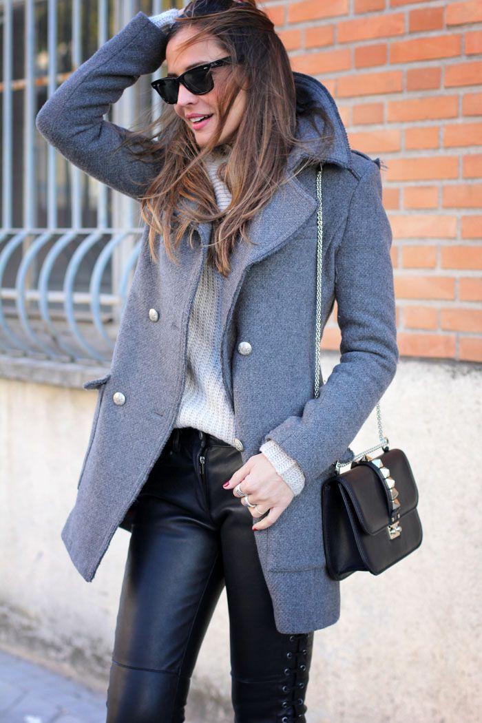 simple grey coat