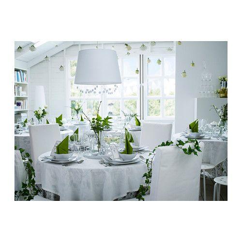 Pendant light shade - JÄRA Shade IKEA Fabric shade gives a diffused and decorative light.
