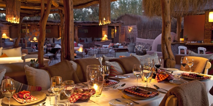 Awasi: Evenings at Awasi are all about the tasty fusion fare and star-gazing by the firepit. Awasi  San Pedro de Atacama, Chile