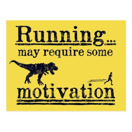 Running motivation funny postcard - postcard post card postcards unique diy cyo customize personalize