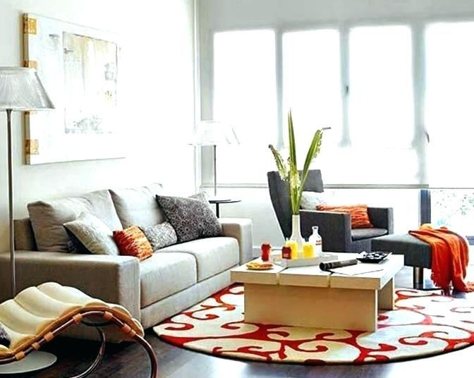 Orange And Blue Decor Living Room Idea Design Interior