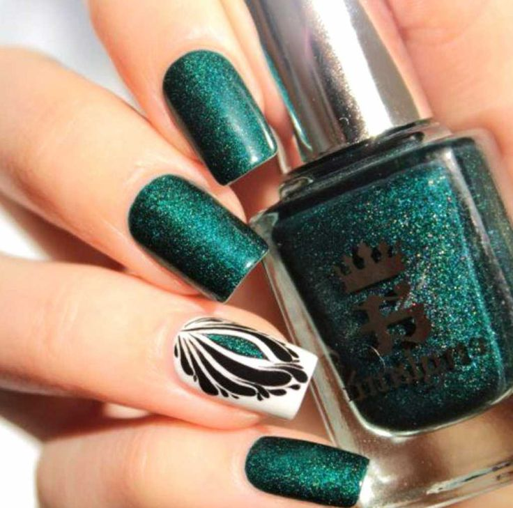 Dark green mani with beautiful pattern :: one1lady.com :: #nail # - The 25+ Best Dark Green Nails Ideas On Pinterest Dark Green Nail