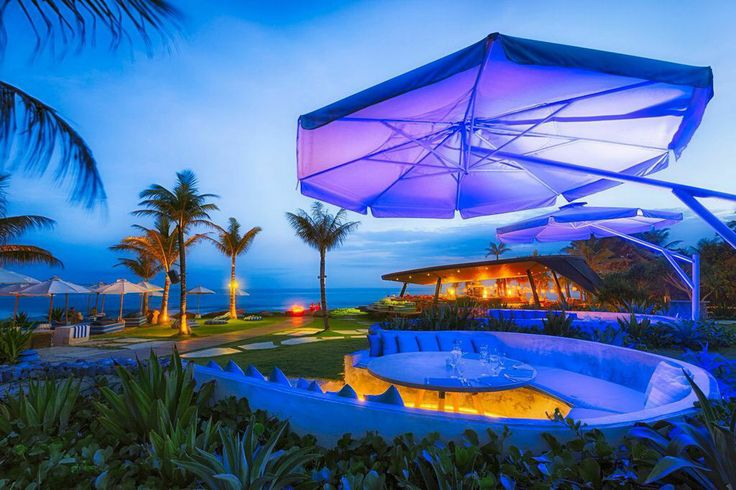 VIP booths in beach club