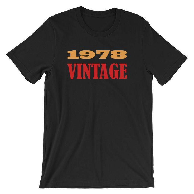 40th Birthday Gift, 40th Birthday Shirt, 40th Birthday Party Shirt, 40th Birthday Gift for Him, Man Birthday 40th, 1978, Vintage, Birthday by IllustratedWorldtees on Etsy https://www.etsy.com/listing/583533441/40th-birthday-gift-40th-birthday-shirt