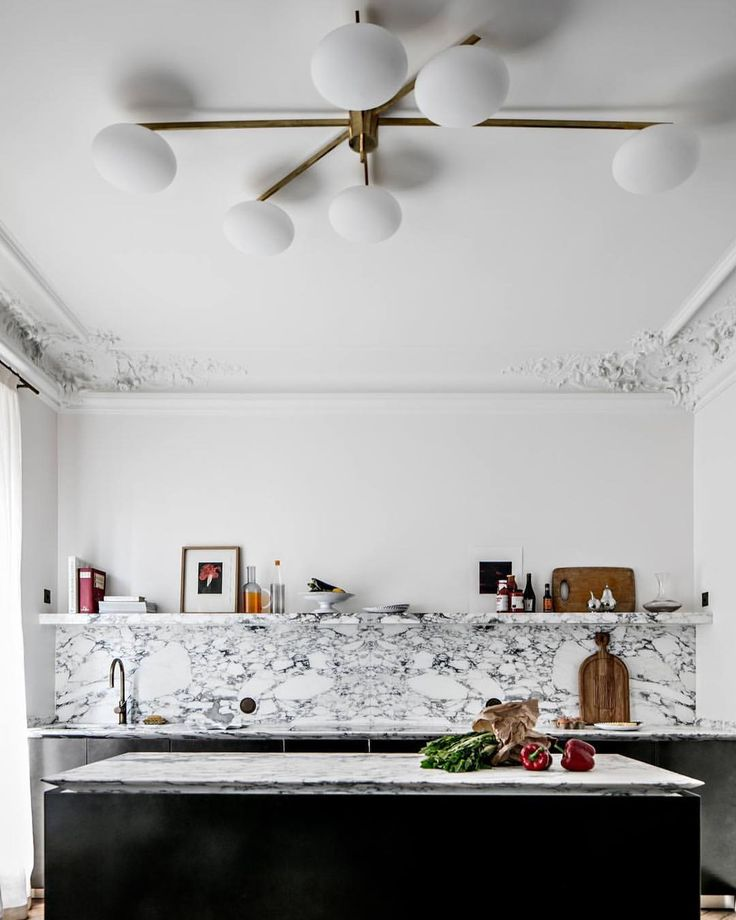"245 Likes, 3 Comments - DPAGES (@thedpages) on Instagram: ""Thrilled to see this well marbled kitchen by Jean Charles Tomas mentioned on @apartment_34 today!…"""