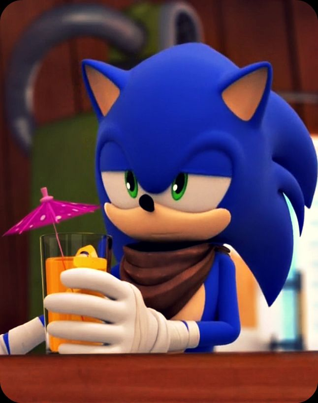 My favorite character from Sonic Boom, Sonic! :D