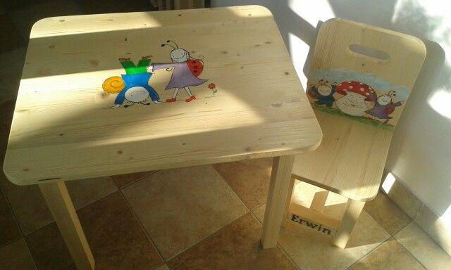 Bogyó és Babóca wood chair&table