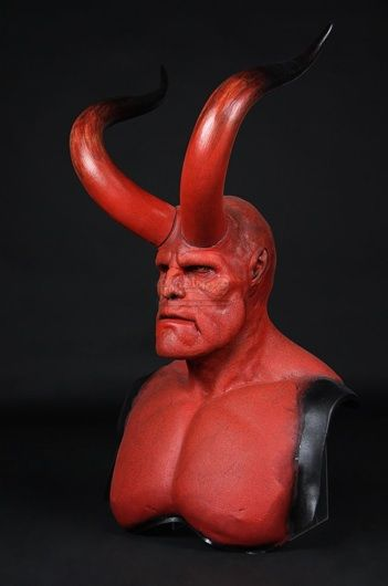 HELLBOY (2004) - Hellboy (Ron Perlman) Facial Appliance, Horns & Lifecast - Current price: £3750
