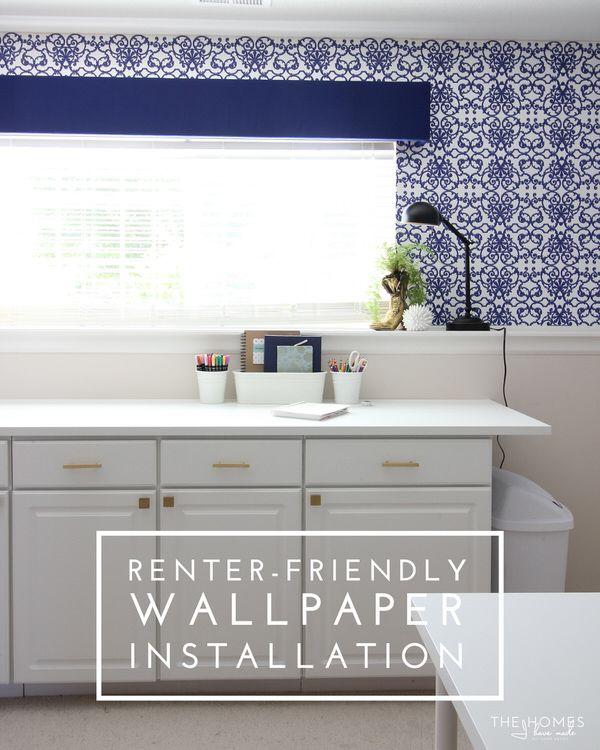Renter Friendly Wallpaper Installation - using regular un-pasted wallpaper and liquid starch