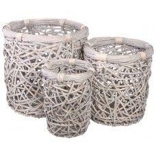 Mesh Laundry Basket - Round - Set of Three £149.99