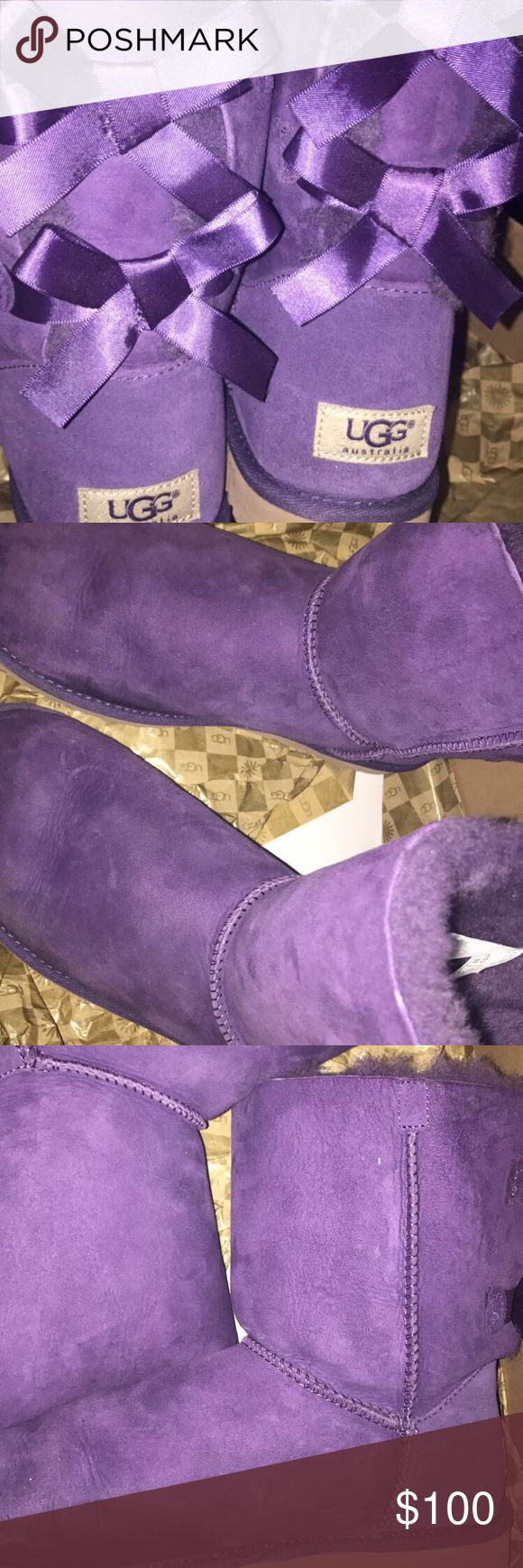 Women's Bailey Bow Purple Uggs Slight water stains can be easily restored and other than that there are no signs of wear UGG Shoes Winter & Rain Boots