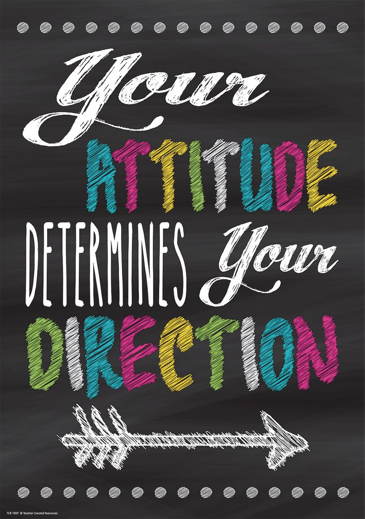 Positive Thinking Quotes Of The Day: Your Attitude Determines Your Direction Positive Poster