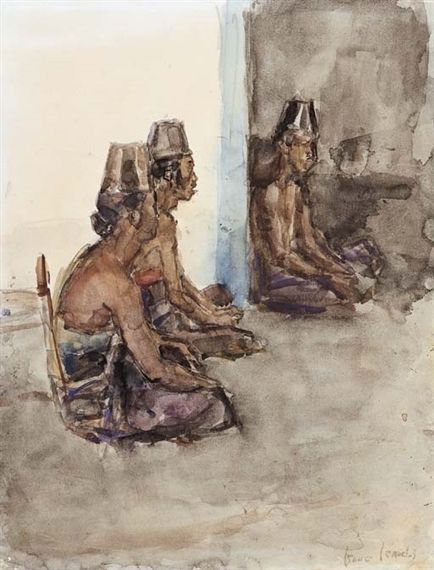 Artwork by Isaac Israëls, Before the ceremony, Made of watercolour on paper