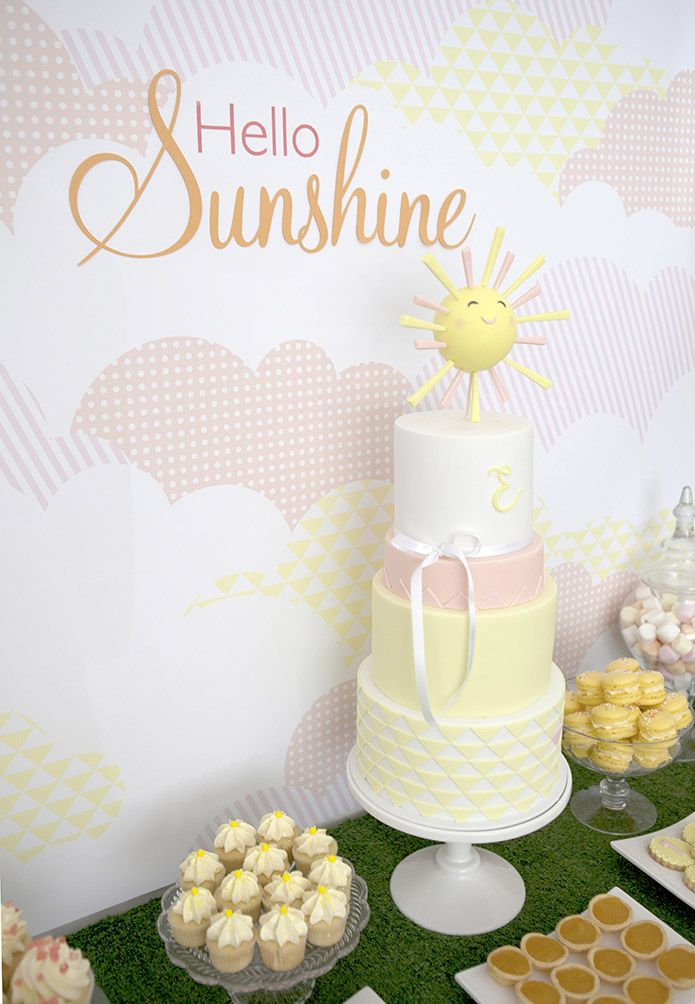 Esther's First Birthday Sunshine Cake by Sweet Tiers