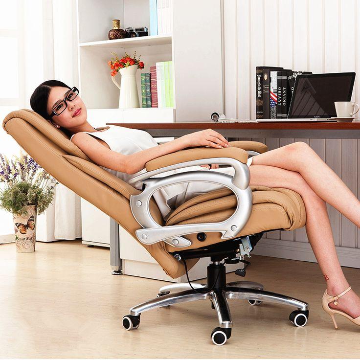 Super Soft Modern Household Office Chair Leisure Lying Lifting Boss Chair Ergonomic Swivel Computer Boss Chair
