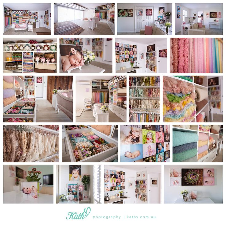 THIS! This is the studio of my dreams! Converted garage!  Melbourne Newborn Photography Studio — Kath V - Melbourne Newborn & Baby Photography