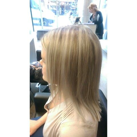 Half head higthligths I did to a client , using silver toner #goldwell