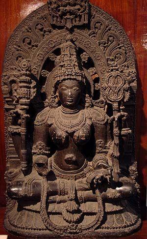 Sarasvati Halebid Hoysala Dynasty 12th Century Indian
