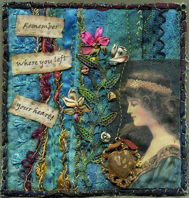 art quilt from crazy quilt square revisited by molly jean hobbit, via Flickr
