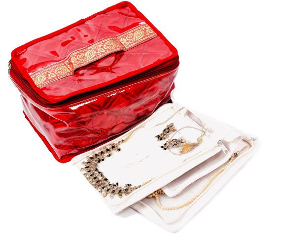 Jewelry Bag / Box with 6 jewelry trays by SpeakHomes on Etsy