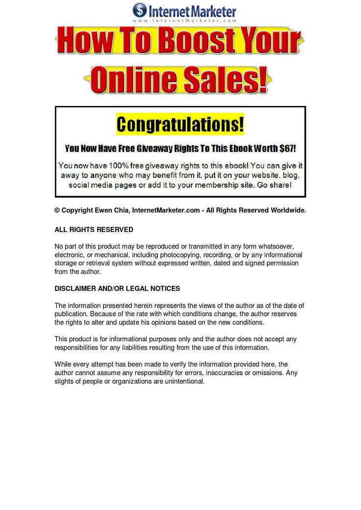 How To Boost Your Online Sales How to boost your online sales for your home based internet business - Learn 5 simple and effective ways to attract more customers, close more sales and increase your profits.