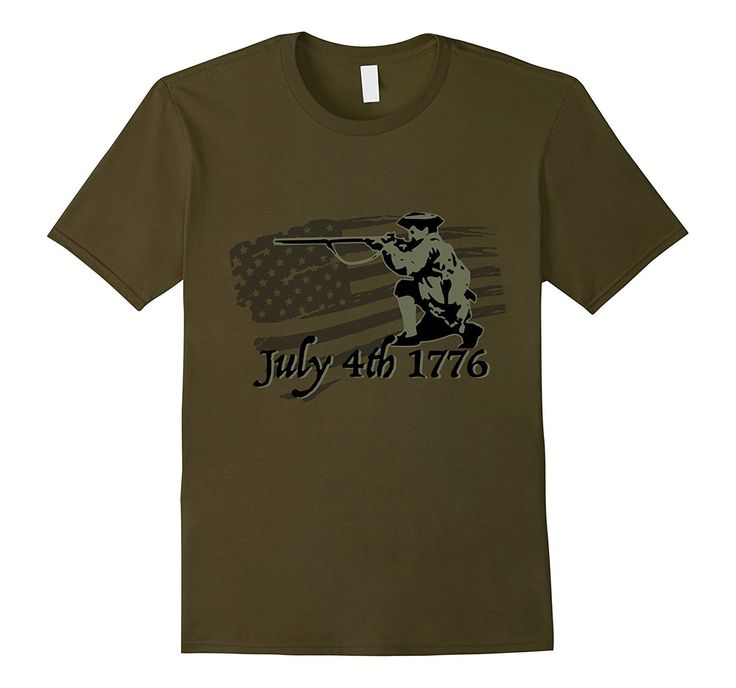 Independence day 4th July 1776 revolution tshirt odg subdued