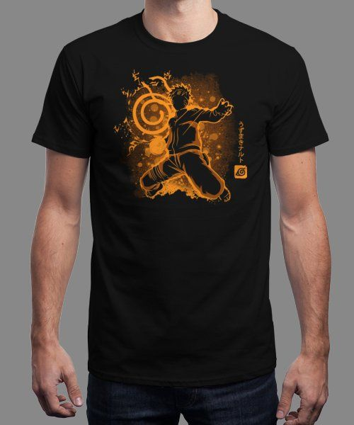 """""""The Jinchuriki"""" is today's £9/€11/$12 tee for 24 hours only on www.Qwertee.com Pin this for a chance to win a FREE TEE this weekend. Follow us on pinterest.com/qwertee for a second! Thanks:)"""