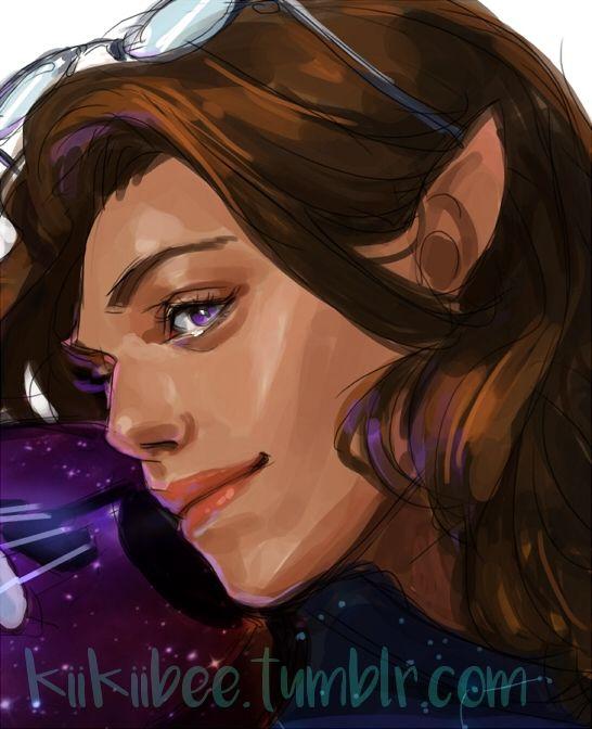 commission of a half-elf Bard named Ellashan for @jelenedrake!!