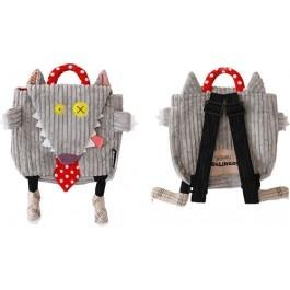 Mochila original y divertida para niña, niño, bebé BigBos El Lobo de Deglingos/ Original and funny bag for kids and babies BigBos The Wolf by Deglingos
