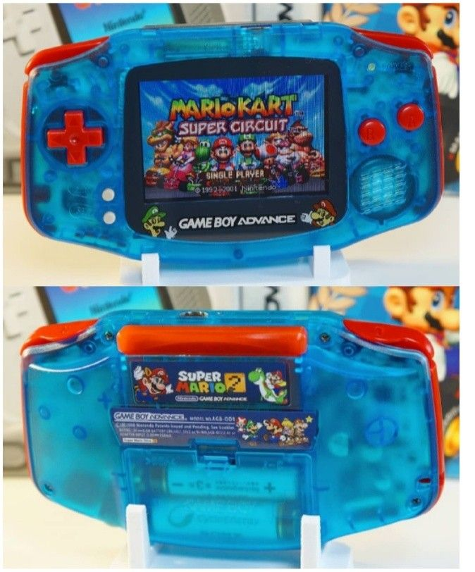 Gba Game Boy Advance Custom Shell Mod Blue Red Gameboy Retro Games Console Nintendo Game Boy Advance