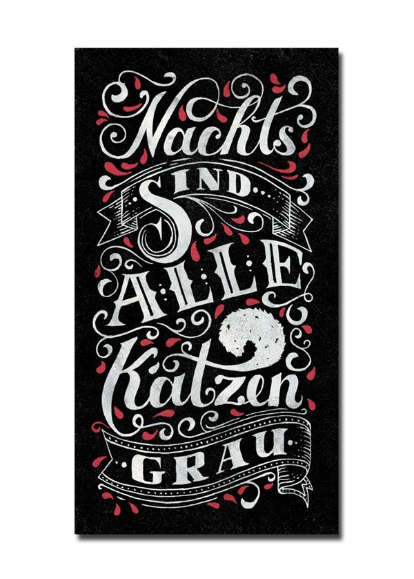 Hand Lettering Works 2013 by Tobias Saul, via Behance