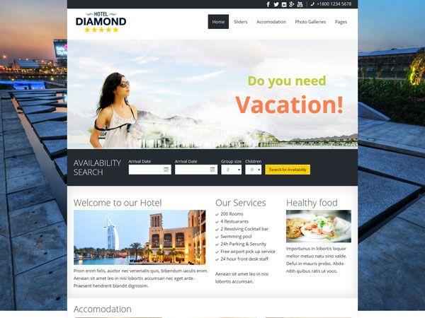 Hotel Diamond Template