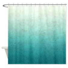 Ombre Teal Shower Curtain