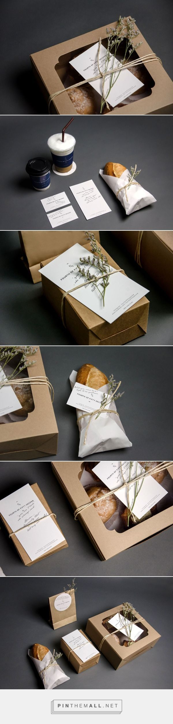 package branding design with leaf and craft paper