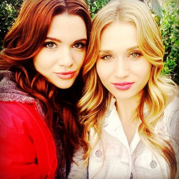 Katie Stevens and Rita Volk have two solid smizes between them. Filming a TV show can land you a loy ...
