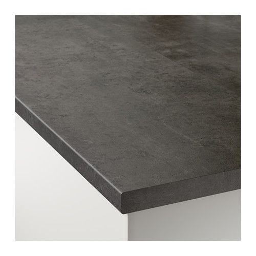 EKBACKEN Countertop, concrete effect concrete effect 98x1 1/8