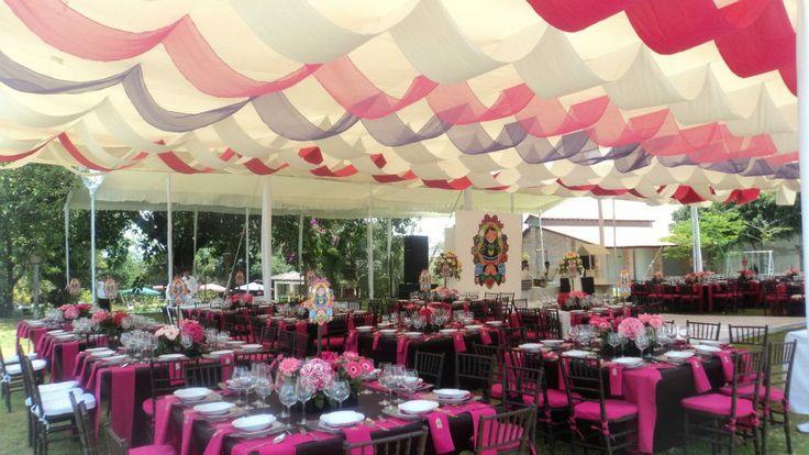 Con techos decorados carpas elegantes pinterest for Techos decorados