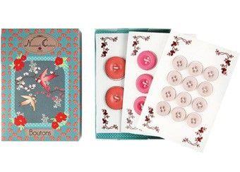 boîte à boutons rétro Georges & Rosalie | shop pour enfants Le Petit Zèbre